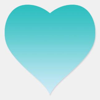 Teal Ombre Heart Sticker