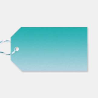 Teal Ombre Pack Of Gift Tags