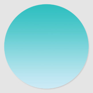 Teal Ombre Round Sticker