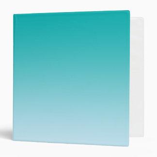 Teal Ombre Vinyl Binder
