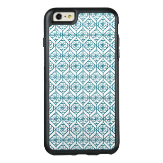 Teal on White Ethnic Pattern, Flowers, Chevrons OtterBox iPhone 6/6s Plus Case