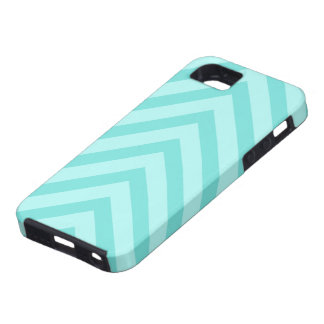 Teal or aqua chevron pattern arrows iPhone 5 case