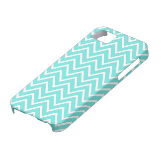 Teal or aqua chevron zigzag pattern iPhone 5 case