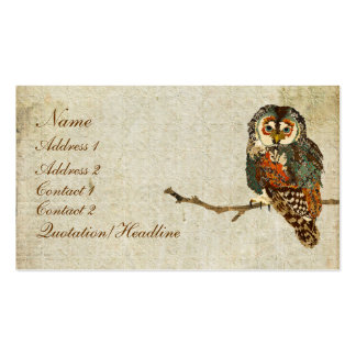 Teal  Owl Business Card/Tags