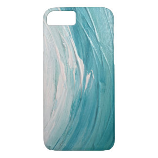 Teal Painted Wave iPhone 7 case