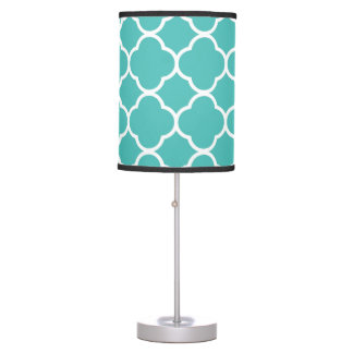 Teal Pattern Geometric Modern Decor Table Lamp