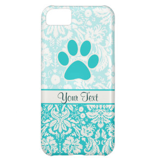 Teal Paw Print Case For iPhone 5C