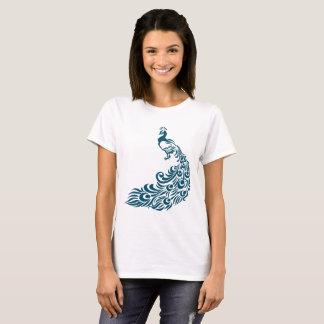 Teal Peacock Bold Stylish Art Deco Design T-Shirt