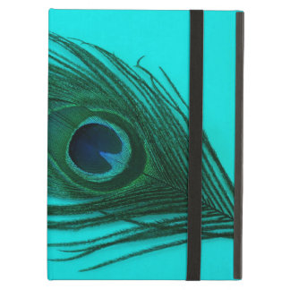 Teal Peacock Feather iPad Air Cover
