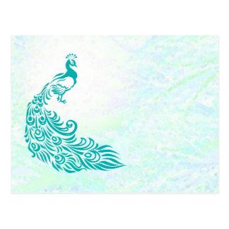 Teal Peacock Post Card
