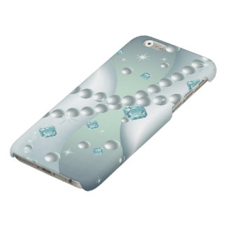 Teal Pearl Abstract Matte iPhone 6 Case