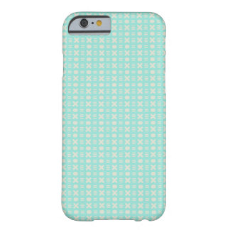 Teal Phone case with Knots and Crosses Design