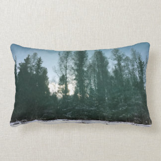 Teal Pines Throw Pillow