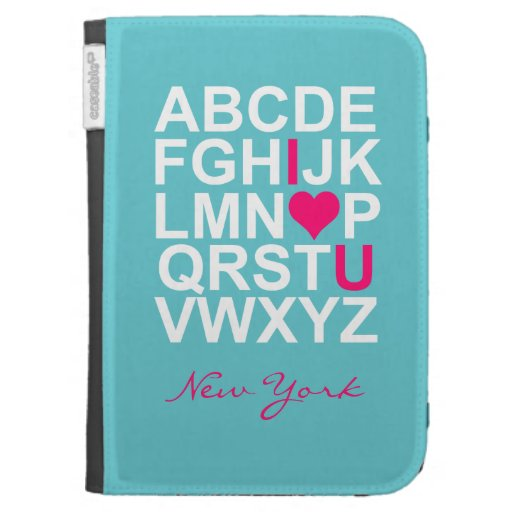 Teal Pink Love Customizeable Cases Skins Kindle Cases