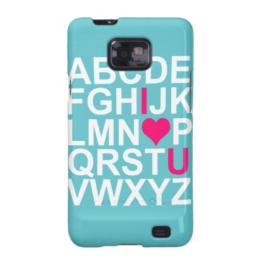 Teal Pink Love Customizeable Cases Skins Galaxy S2 Case