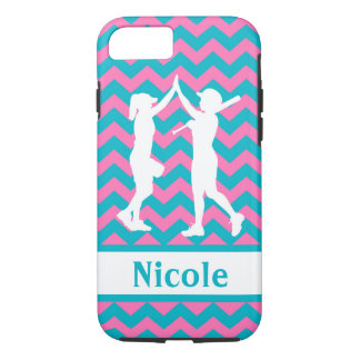 Teal Pink Softball Cell Phone Case