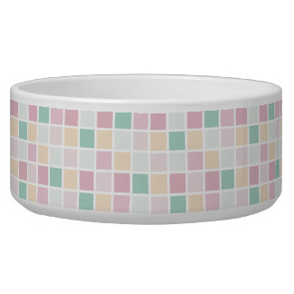 Teal Pink Yellow White Modern Square Pattern