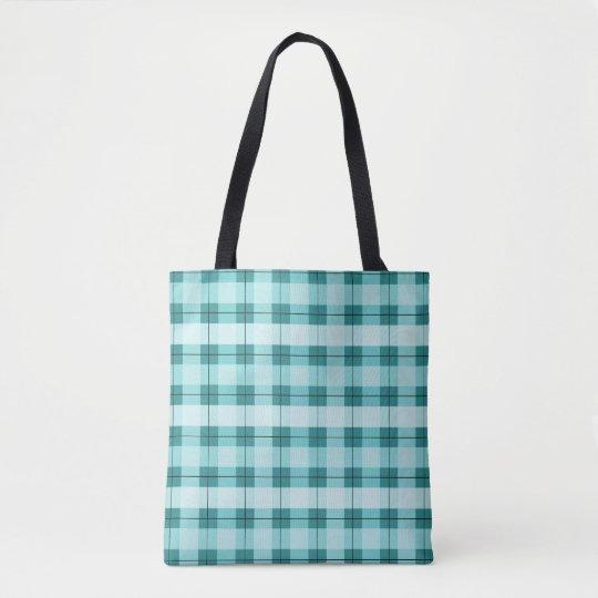Teal Plaid 2.0 Tote Bag