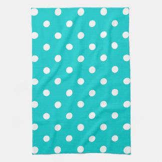 Teal Polka Dot Kitchen Towel