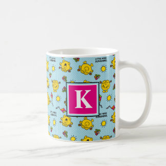 Teal Polka Dot Pattern | Monogram Coffee Mug