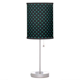 Teal Polka Dot Pattern Table Lamp