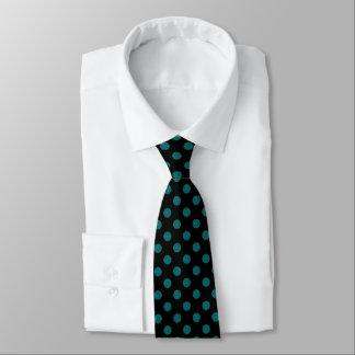Teal Polka Dot Pattern Tie