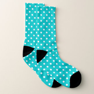 Teal Polka Dot Socks