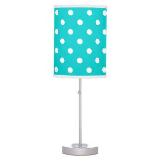 Teal Polka Dot Table Lamp