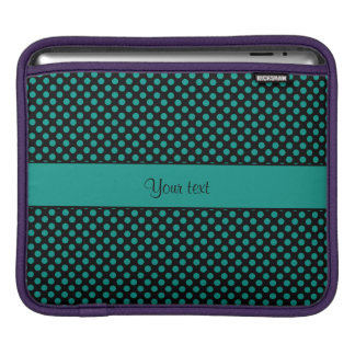 Teal Polka Dots iPad Sleeve