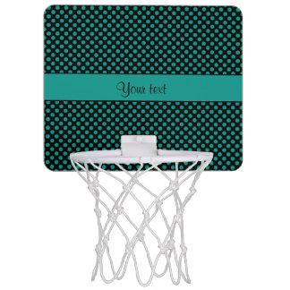 Teal Polka Dots Mini Basketball Hoop