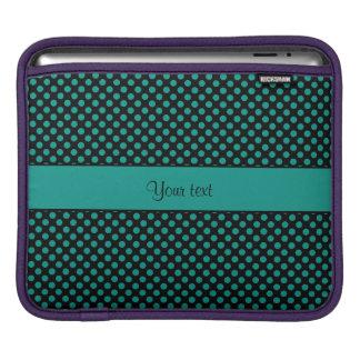 Teal Polka Dots Sleeves For iPads