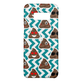 Teal Poop Emoji Pattern Case-Mate Samsung Galaxy S8 Case
