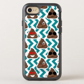 Teal Poop Emoji Pattern OtterBox Symmetry iPhone 8/7 Case