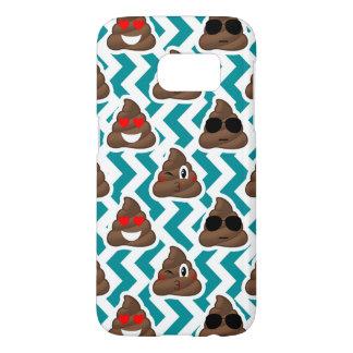 Teal Poop Emoji Pattern Samsung Galaxy S7 Case