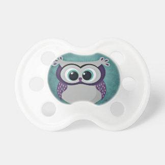 Teal & Purple Owl Pacifier
