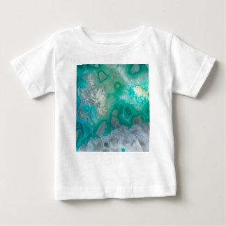 Teal Quartz Geode Baby T-Shirt
