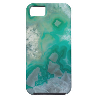 Teal Quartz Geode Case For The iPhone 5