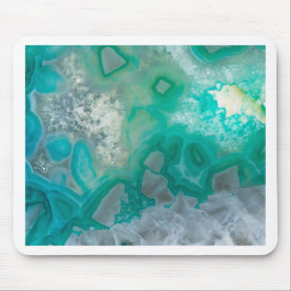 Teal Quartz Geode Mouse Pad