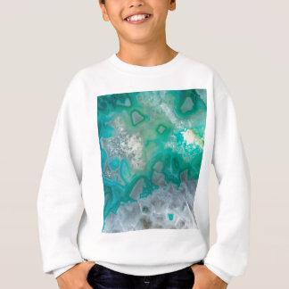 Teal Quartz Geode Sweatshirt