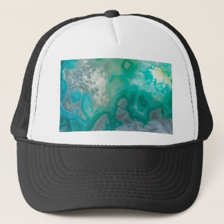 Teal Quartz Geode Trucker Hat