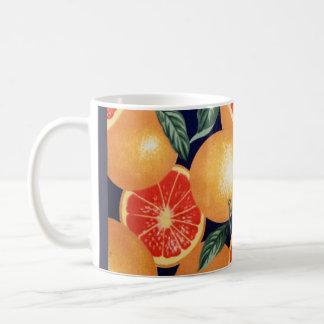 Teal Retro Orange Pineapple Coffee Mug