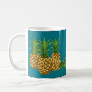 Teal Retro Vintage Pineapple Coffee Mug