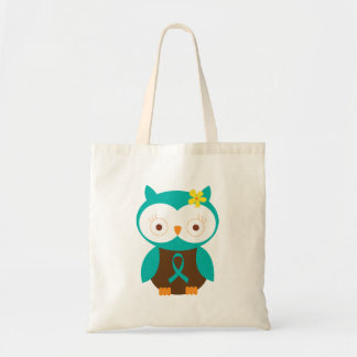 Teal Ribbon Awareness Owl