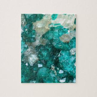 Teal Rock Candy Quartz Jigsaw Puzzle