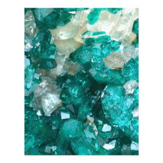 Teal Rock Candy Quartz Letterhead