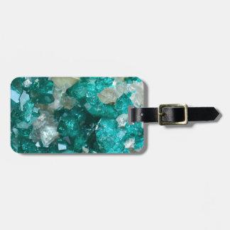 Teal Rock Candy Quartz Luggage Tag