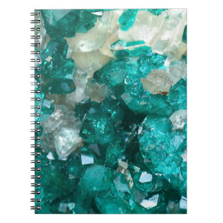 Teal Rock Candy Quartz Notebook