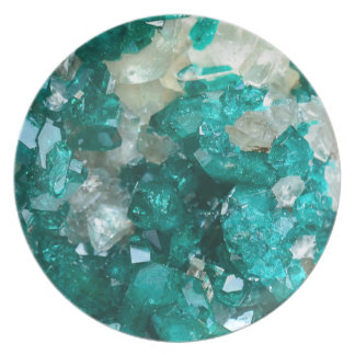 Teal Rock Candy Quartz Party Plates