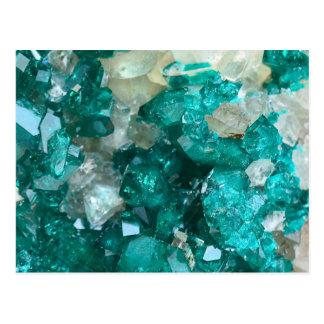Teal Rock Candy Quartz Postcard