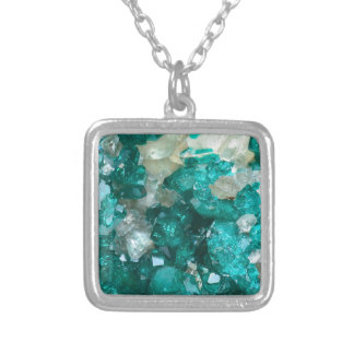 Teal Rock Candy Quartz Silver Plated Necklace